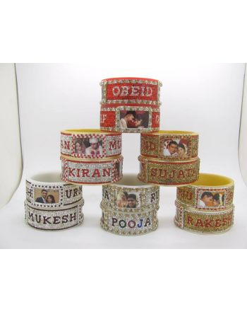 wedding name bangles-bridal name chura with photo