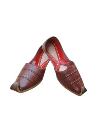 Brown Leather Mens Khussa shoes