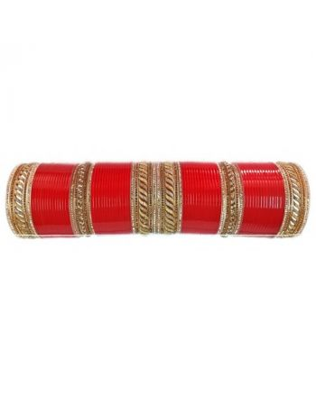 Prajapati Royal Beautiful Punjabi red Bridal chooda for Women & Girls Chura