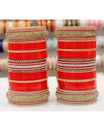 Red Bridal chura Punjabi chura