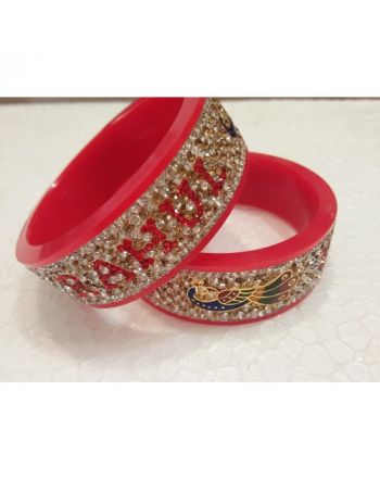 Designer Couple name bangles Set name wedding chura