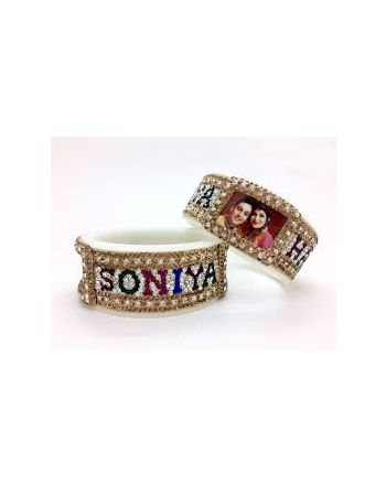 Personalized Name Bangles images