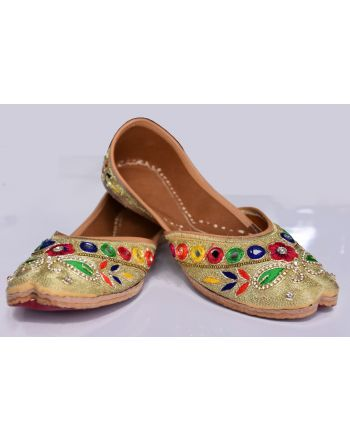 Women designer bridal flip flops khussa shoes
