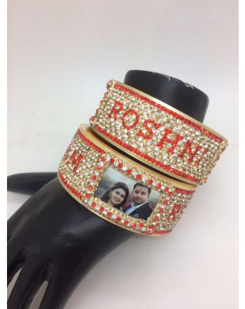 Husband Wife wedding name bangles