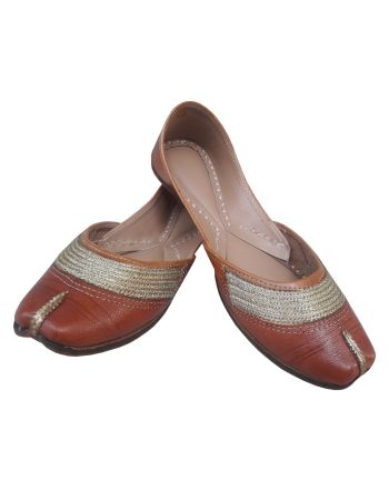 Punjabi Leather Jutti for Women Traditional Mojari/Juti for Girls