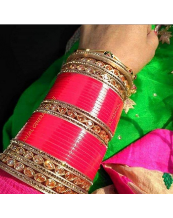Prajapati Handicraft punjabi Chura/indian Chura Bangles/traditional Chura
